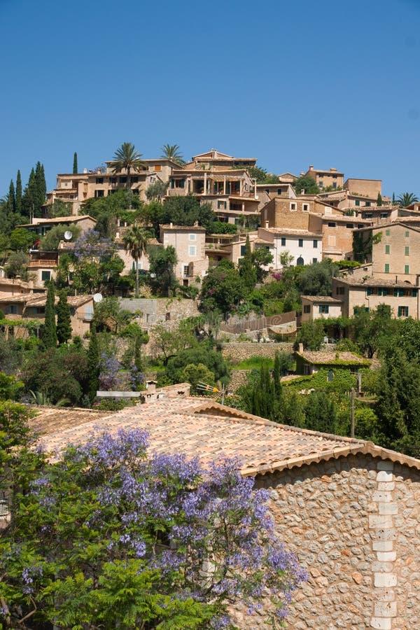 Deja village Majorca. Scenic view of houses in village of Deja, Majorca, Balearic islands, Spain stock photo