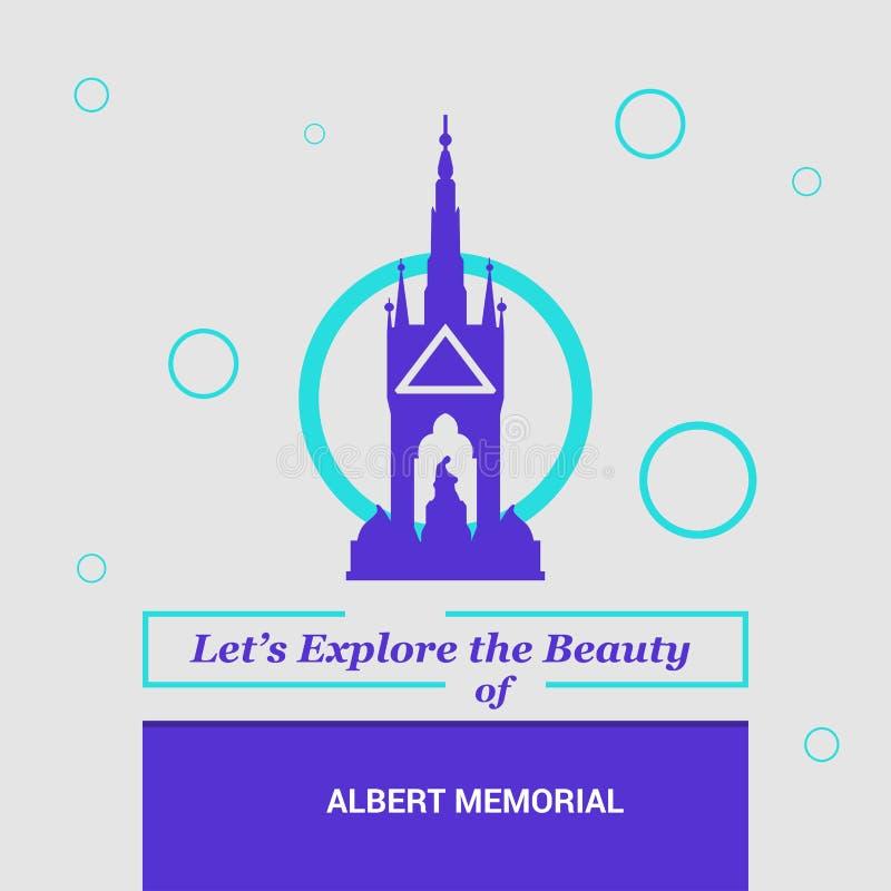 Dejado \ 's explore la belleza de Albert Memorial Belfast, Na de Inglaterra libre illustration