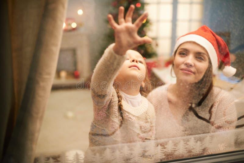 Dejar el mensaje a Santa Claus fotos de archivo