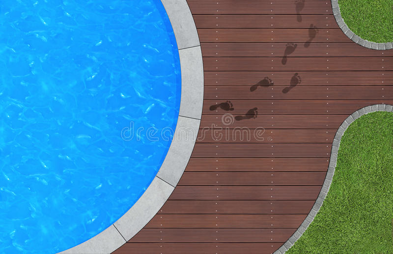 Dejar la piscina ilustración del vector