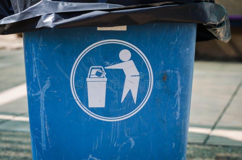 Deje en desorden por favor en compartimientos el símbolo imagen de archivo