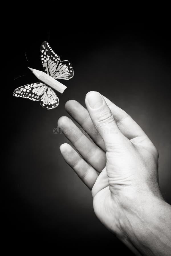 Deje su mosca de la imaginación - concepto de la creatividad foto de archivo