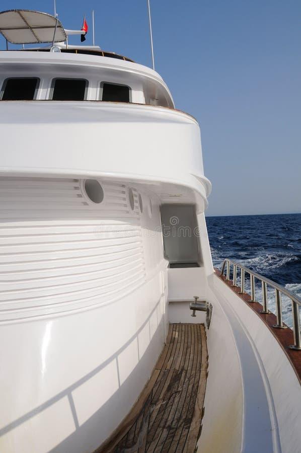 Dek van jacht royalty-vrije stock foto's