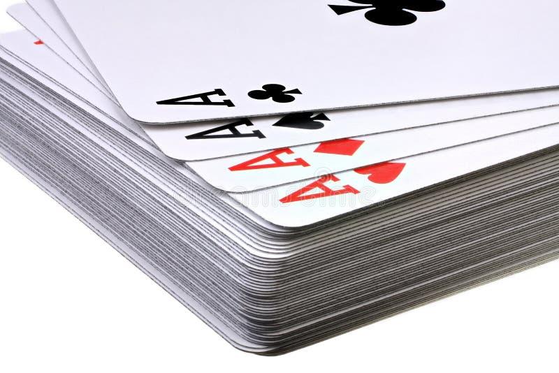 Dek van speelkaarten royalty-vrije stock afbeeldingen