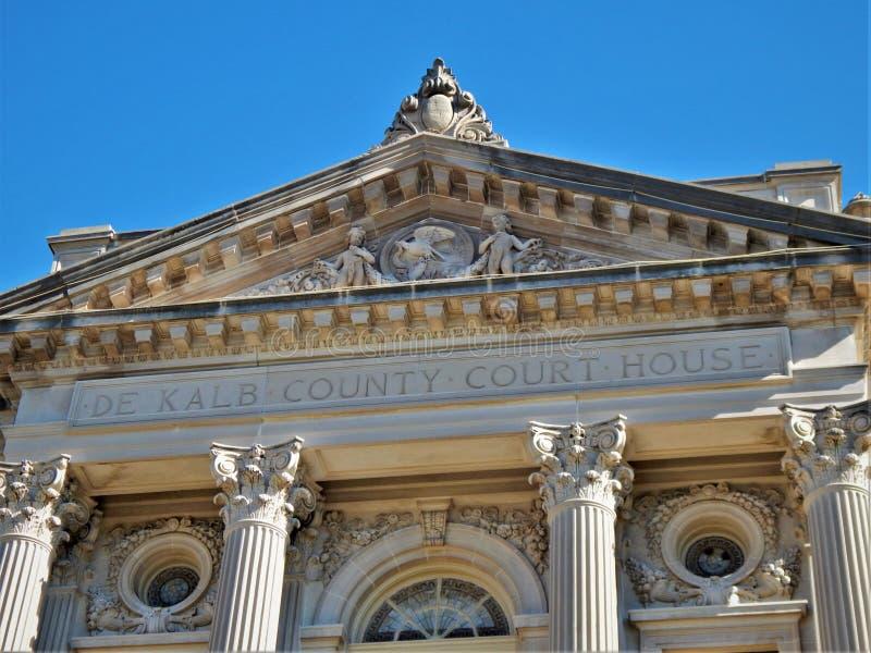 Dekalb County domstolsbyggnadsykomor Illinois fotografering för bildbyråer