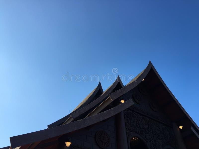 Dekarstwo Tajlandzka świątynia fotografia royalty free