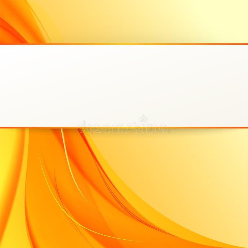 Dekking met oranje rook op gele achtergrond. stock illustratie
