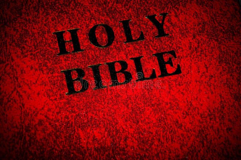 dekking van het boek van de Bijbel stock foto's