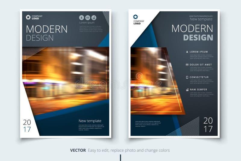 Dekkingsontwerp voor brochure, vlieger, rapport, catalogus, presentatie, affiche Modern lay-outmalplaatje in A4 grootte stock illustratie