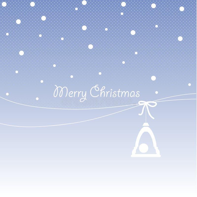 Dekkingsontwerp voor de kaarten van de Kerstmisgroet vector illustratie