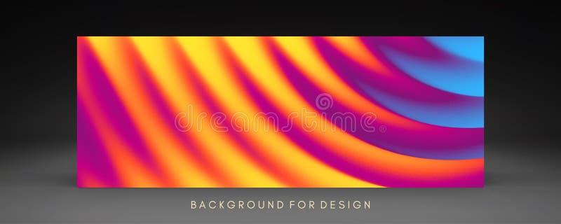 Dekkingsontwerpsjabloon met kleurengradiënten abstracte achtergrond Modern patroon 3d vectorillustratie voor reclame, marketing royalty-vrije illustratie