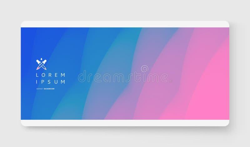 Dekkingsontwerpsjabloon met kleurengradiënten abstracte achtergrond Modern patroon 3d vectorillustratie voor reclame, marketing vector illustratie