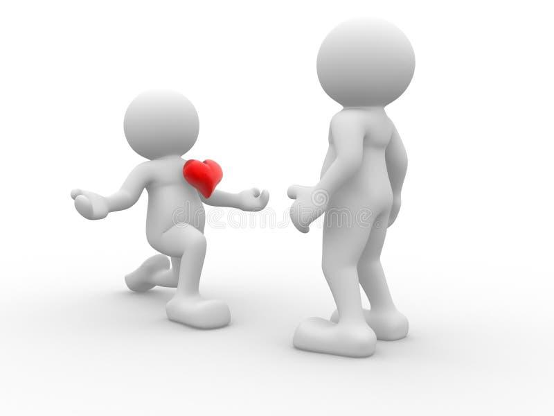 deklaraci miłość ilustracja wektor