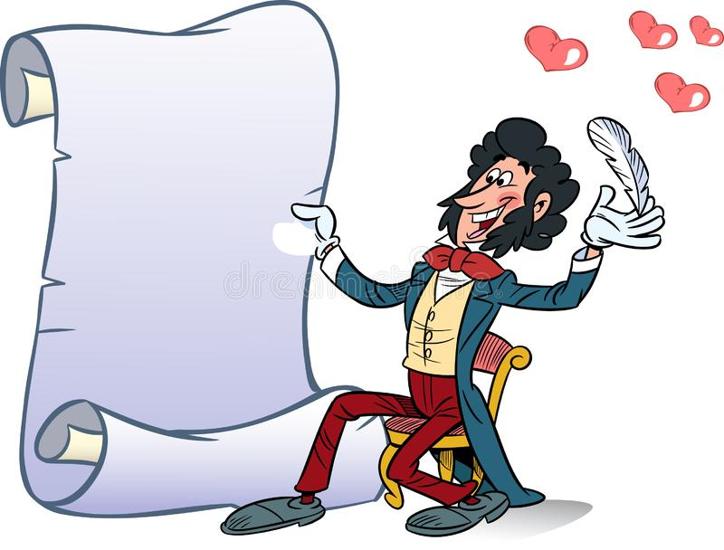 Deklaracja miłość w wersecie royalty ilustracja