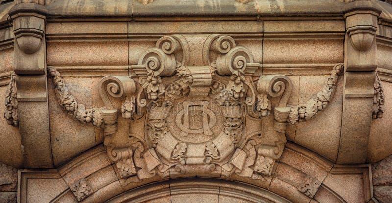 Dekor av modern byggnad arkivfoton