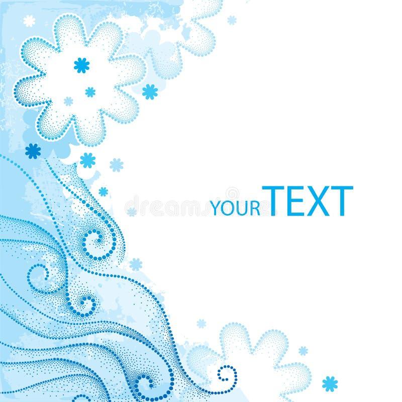 Dekor in dotwork Art für Winterdesign in Blauem und in weißem Eleganz-fröhliches Weihnachtsmotiv stock abbildung