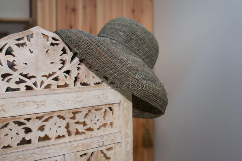 Dekor för hem för livsstil för garnering för hatt för sugrör för tillbehör för sommarsemester minsta arkivfoto