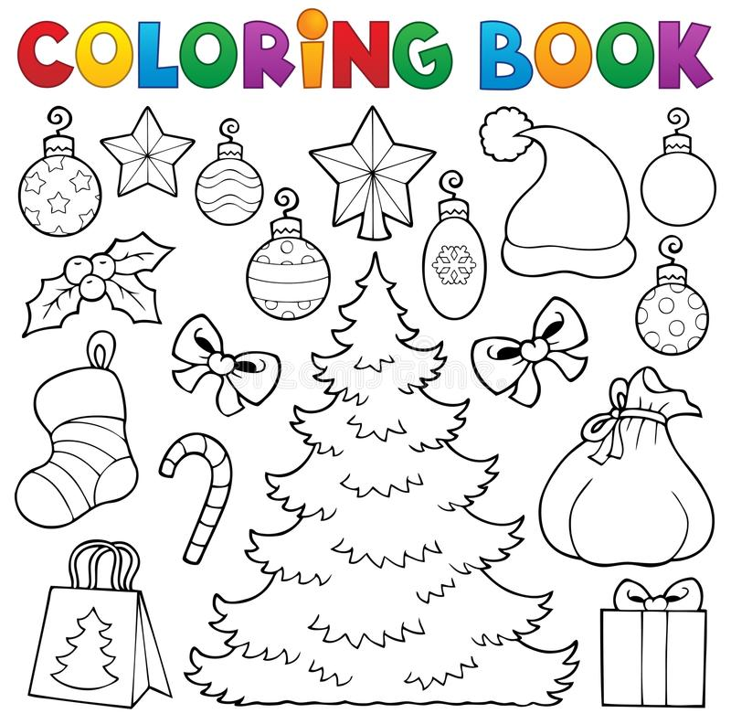 Dekor 1 för jul för färgläggningbok