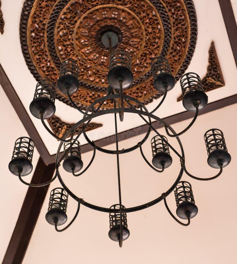 Dekor för tappningbelysninglampa royaltyfri fotografi