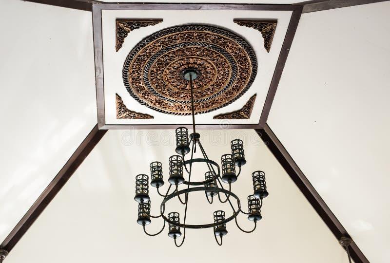 Dekor för tappningbelysninglampa royaltyfri bild
