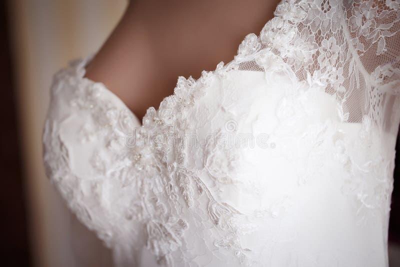 Dekoraci ślubna suknia zdjęcie royalty free