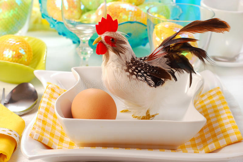 dekoraci Easter stół zdjęcie royalty free