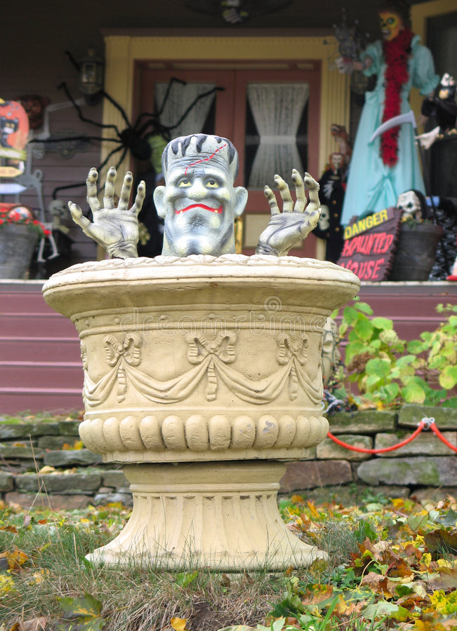 dekoraci frankenstein Halloween zdjęcie royalty free