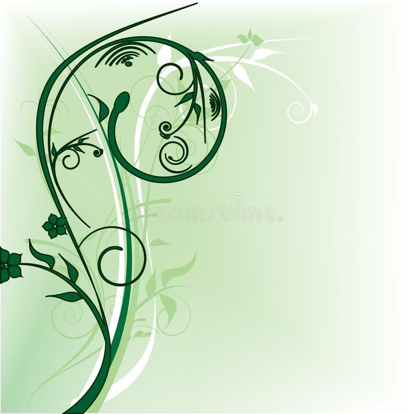 Download Dekoraci kwiatów zieleń ilustracja wektor. Ilustracja złożonej z wyznaczający - 13326379