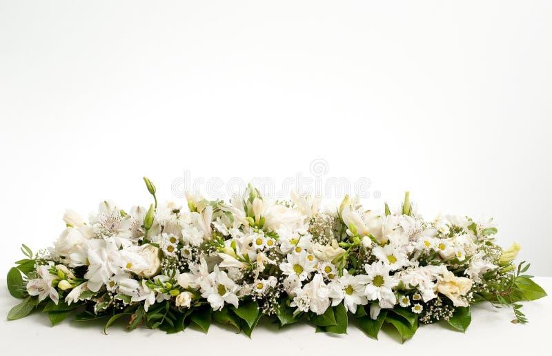 dekoraci kwiatu stołu biel obrazy royalty free
