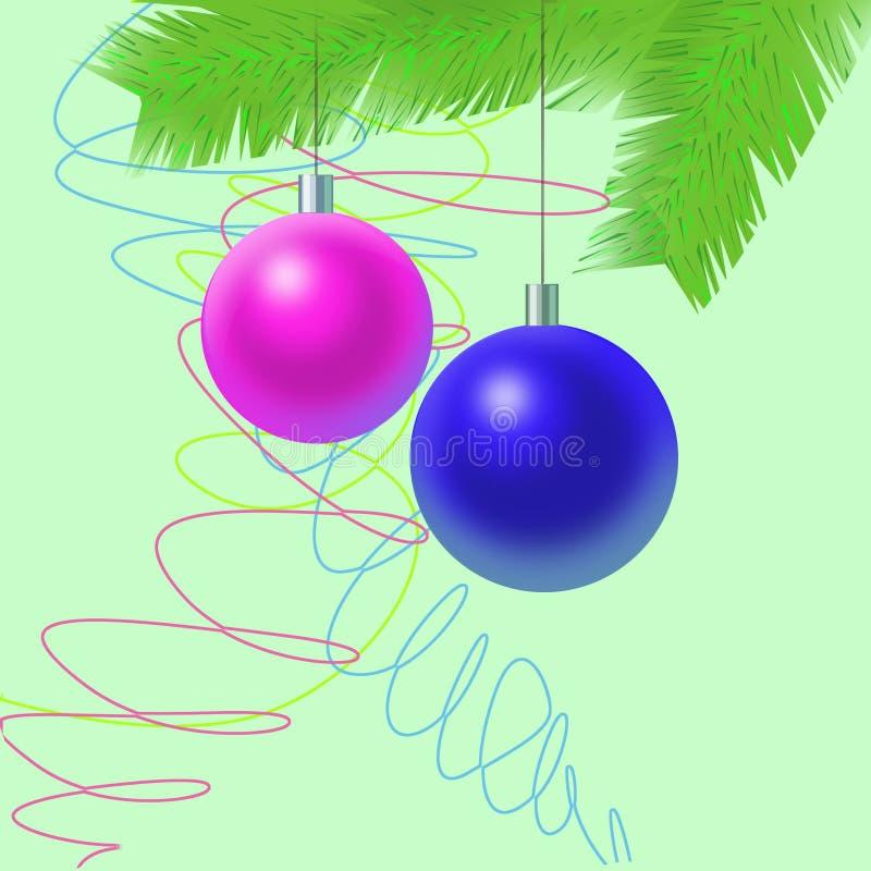 dekoraci nowy s drzewa rok ilustracja wektor