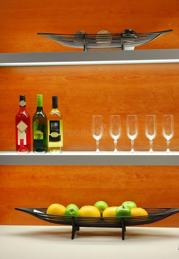 dekoraci półka elegancka kuchenna obraz stock