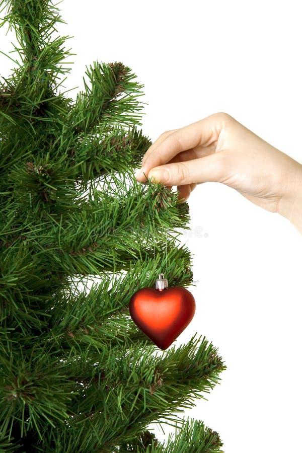 dekoraci ręka wiesza sosna kierowego nowego rok s zdjęcia stock