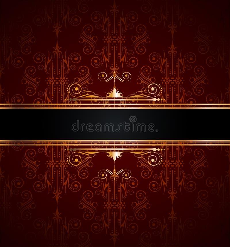 dekoraci tapeta złota bezszwowa ilustracji
