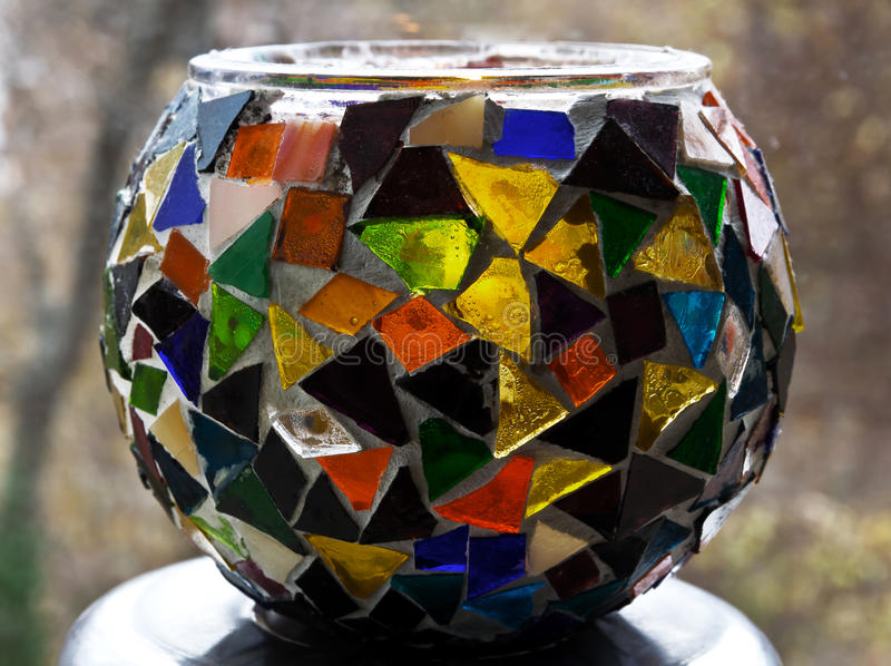 Dekoraci waza z mozaiką zdjęcie stock