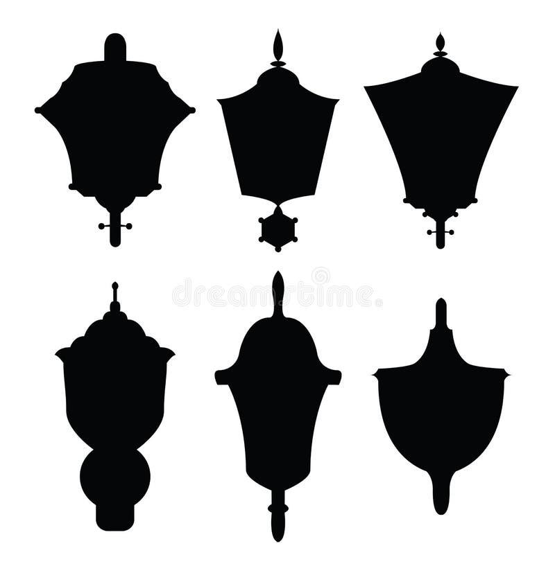 Dekoracj lamp sylwetki ilustracji