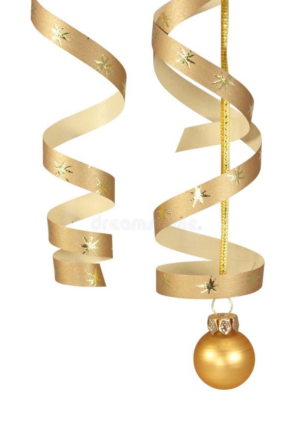 dekoracja świątecznej złota obrazy stock