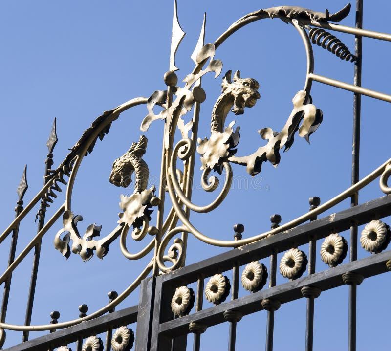 dekoracja żelazo bram żelazo zdjęcia stock
