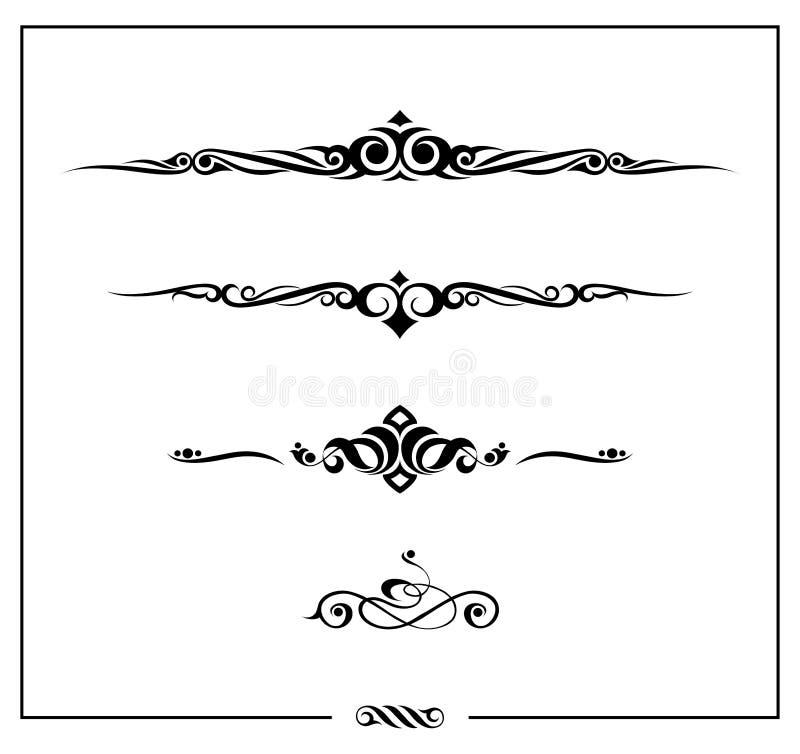 Download Dekoracja 2 elementu ilustracja wektor. Obraz złożonej z krzywa - 18224043