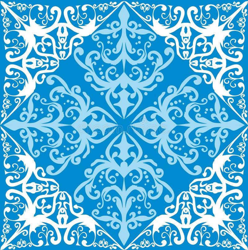 dekoracja abstrakcjonistyczny błękitny biel ilustracji