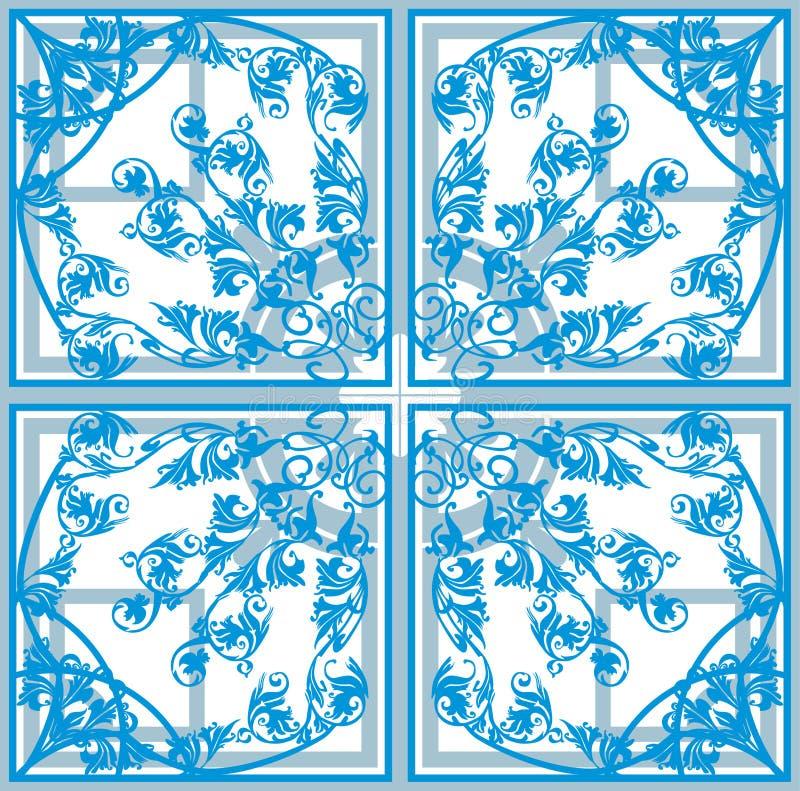 dekoracja abstrakcjonistyczny błękitny kwadrat royalty ilustracja