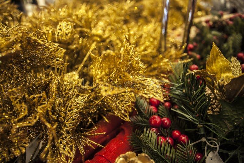 dekoracja i wnętrze Wesoło boże narodzenia i Szczęśliwy nowy rok obrazy stock
