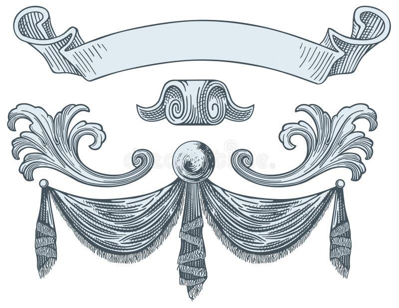 dekoracja królewska ilustracji