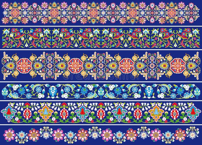 Dekoracja kwitnie na błękicie ilustracja wektor