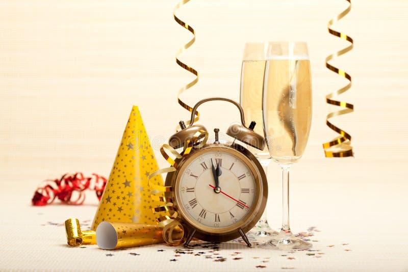 dekoracja rok szczęśliwy nowy partyjny obrazy royalty free