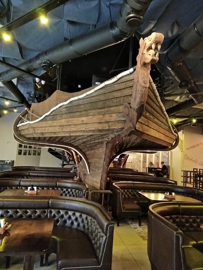 Dekoracja sala w postaci pirata statku obraz royalty free
