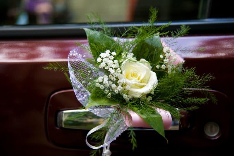 Dekoracja Samochodowy ślub Zdjęcia Royalty Free