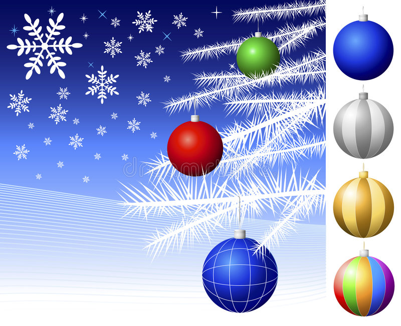 dekoracje świąteczne ilustracji