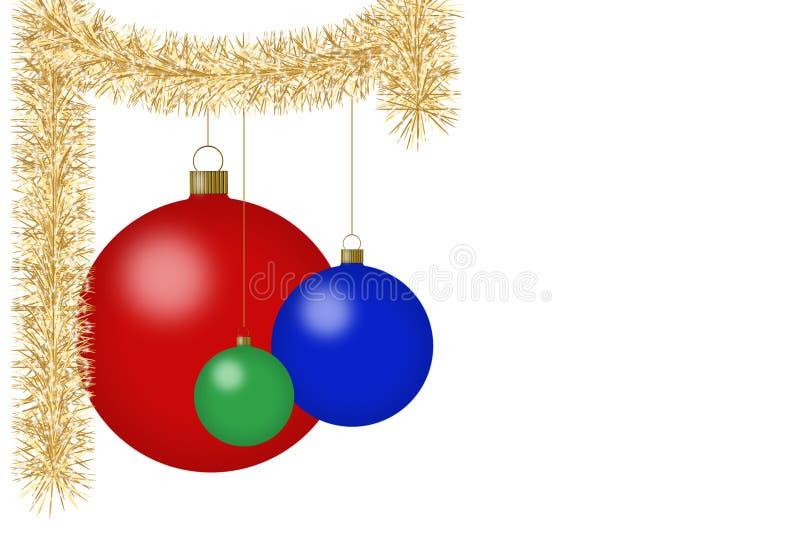 dekoracje świąteczne royalty ilustracja