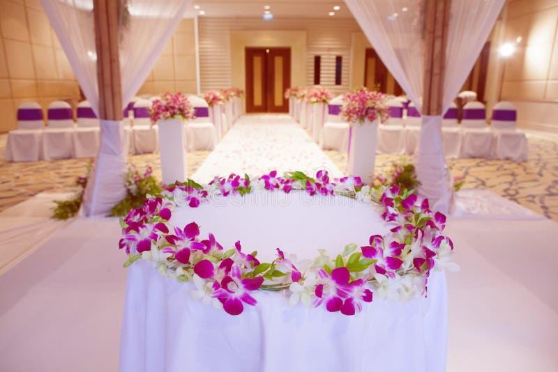 Dekoracje dla ślubnej ceremonii obrazy stock