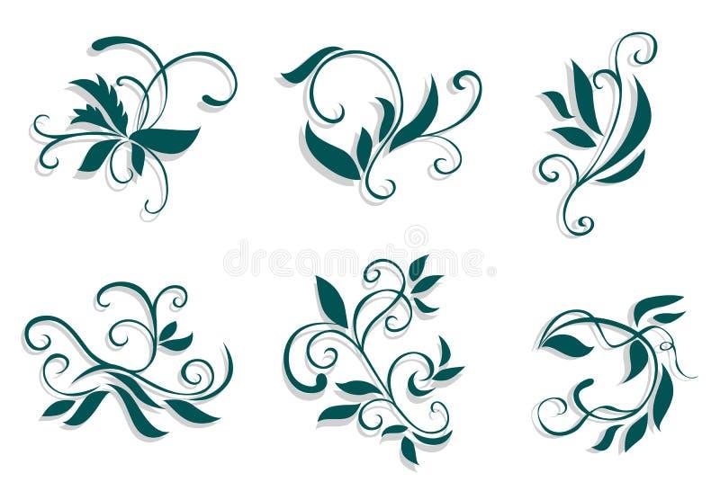 dekoracje kwieciste ilustracja wektor